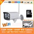 HD 1080 P Bala Câmera IP Wi-fi 2mp Sem Fio Branco Seurveillance Segurança Mini Webcam CMOS Infravermelho Night Vision Freeshipping Hot