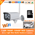 HD 1080P Bullet White IP Camera Wifi 2mp Wireless Seurveillance Security Mini Webcam CMOS Infrared Night Vision Freeshipping Hot