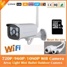 HD 1080 P Пуля Белый Ip-камера Wi-Fi 2-мегапиксельная Беспроводная Seurveillance Безопасности Мини-Камера CMOS Ик Ночного Видения Freeshipping Горячей