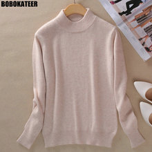 BOBOKATEER Winter Sweater Women Pullover Plus Size Pink Turtleneck Clothes  Women Sweater Trui Jersey Mujer Pull 69e6b764804a