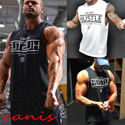 2018 New Jogger Tank Tops Gym Bodybuilding Stringer Tank Men's Top Muscle Workout Sport Fitness Vest Shirt