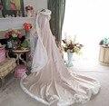 Fashion champagne wedding jacket large-size coat wedding cloak 12 size white fur decorated clues bride wedding shawl wrapped