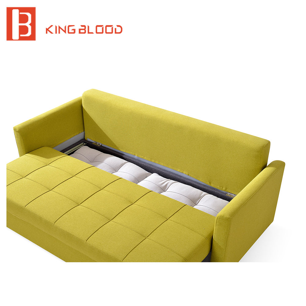 Canada Fabric Storage Sofa Bed Wooden Designs