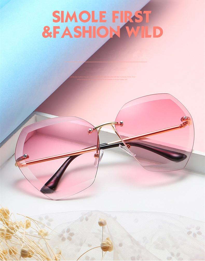 HTB12iMffx6I8KJjSszfq6yZVXXaR - Luxury Vintage Rimless Sunglasses Women Brand Designer Oversized Retro Female Sunglass Sun Glasses For Women Lady Sunglass 2018