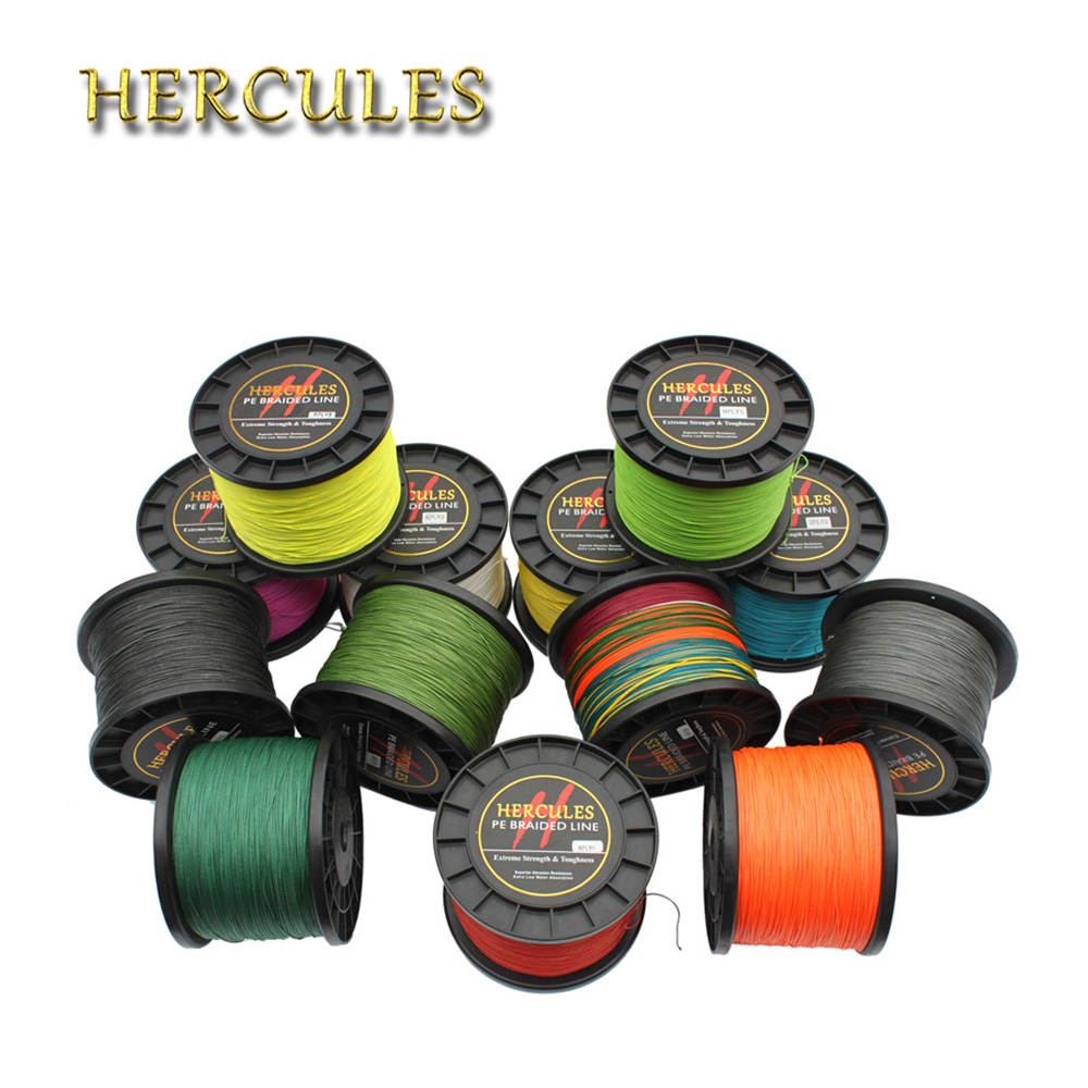 Hercules Braided Fishing Line 2000M 120LB 8 Strands 0.58mm Dia PE linha de Pesca Multifilamento 8 fio Sea Saltwater Carp Fishing