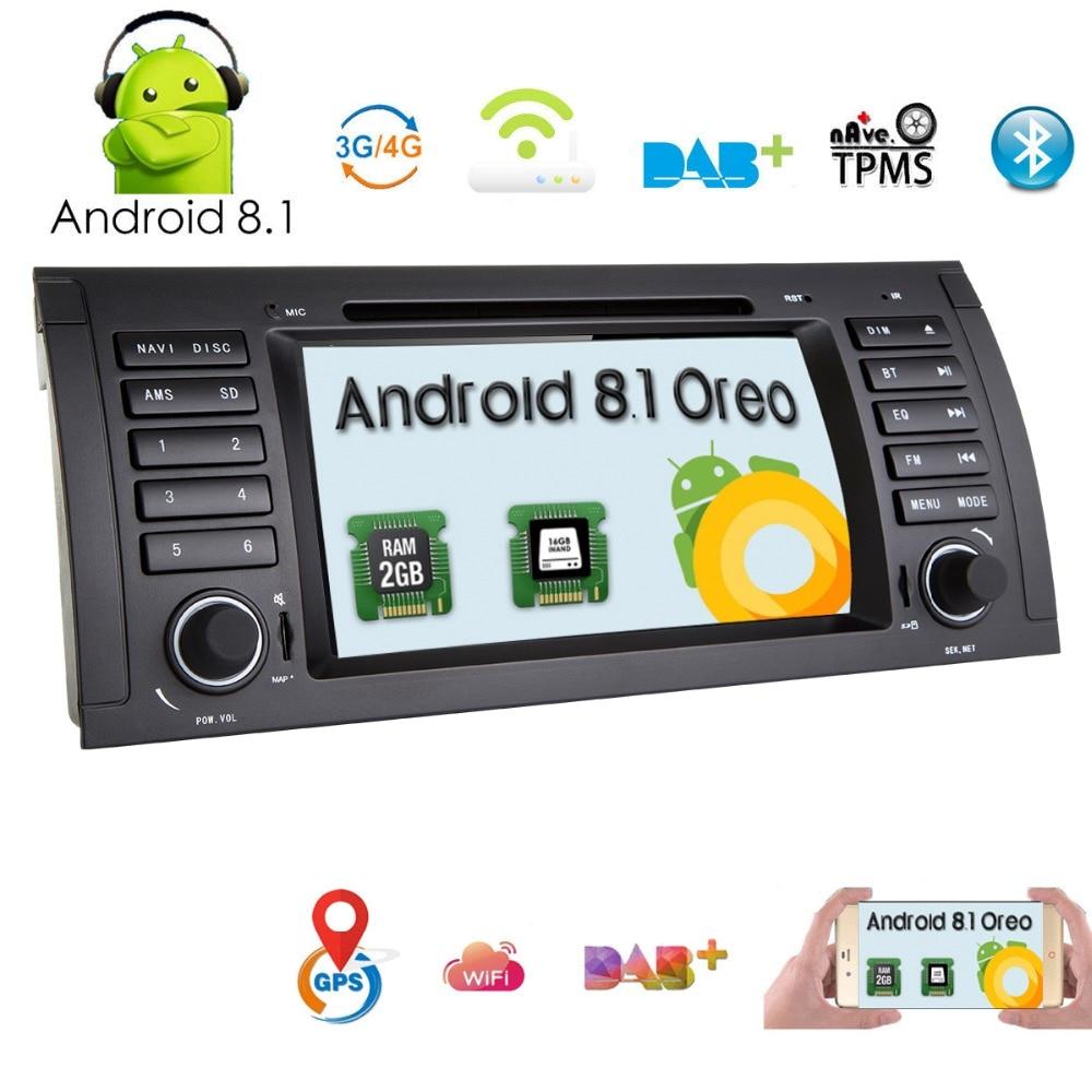 1din 7''Android8. 1 dvd de voiture GPS pour BMW E53 E39 X5 accessoires de tuning M5 Accessoires X5 E53 Navigation CFC DVR RDS DVBT BT 2 GRAM 4 3GWIFI