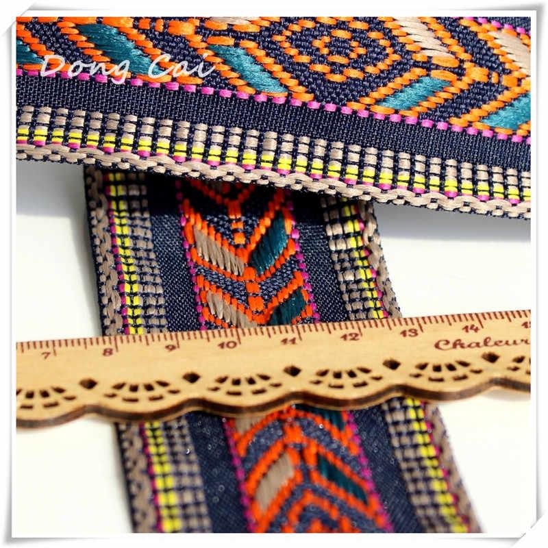 3 ярдов/партия Этническая Вышивка тесьма индийские ленты кружевной ткани лента аксессуары для Бохо цыганские ремни для сумок повязка на голову в Корейском стиле DIY