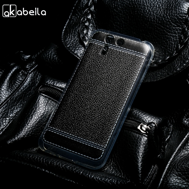 AKABEILA Silicone Phone Cover Case For Asus Padfone S PF500KL 5.0 inch Case TPU Plating Lichee Cover Back Phone Bag