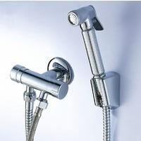 Brass Chrome Bidet Faucet Toilet Shower Hand Held Bidet Spray Gun Nozzle Versatile Wall Mounted Bathroom Accessories