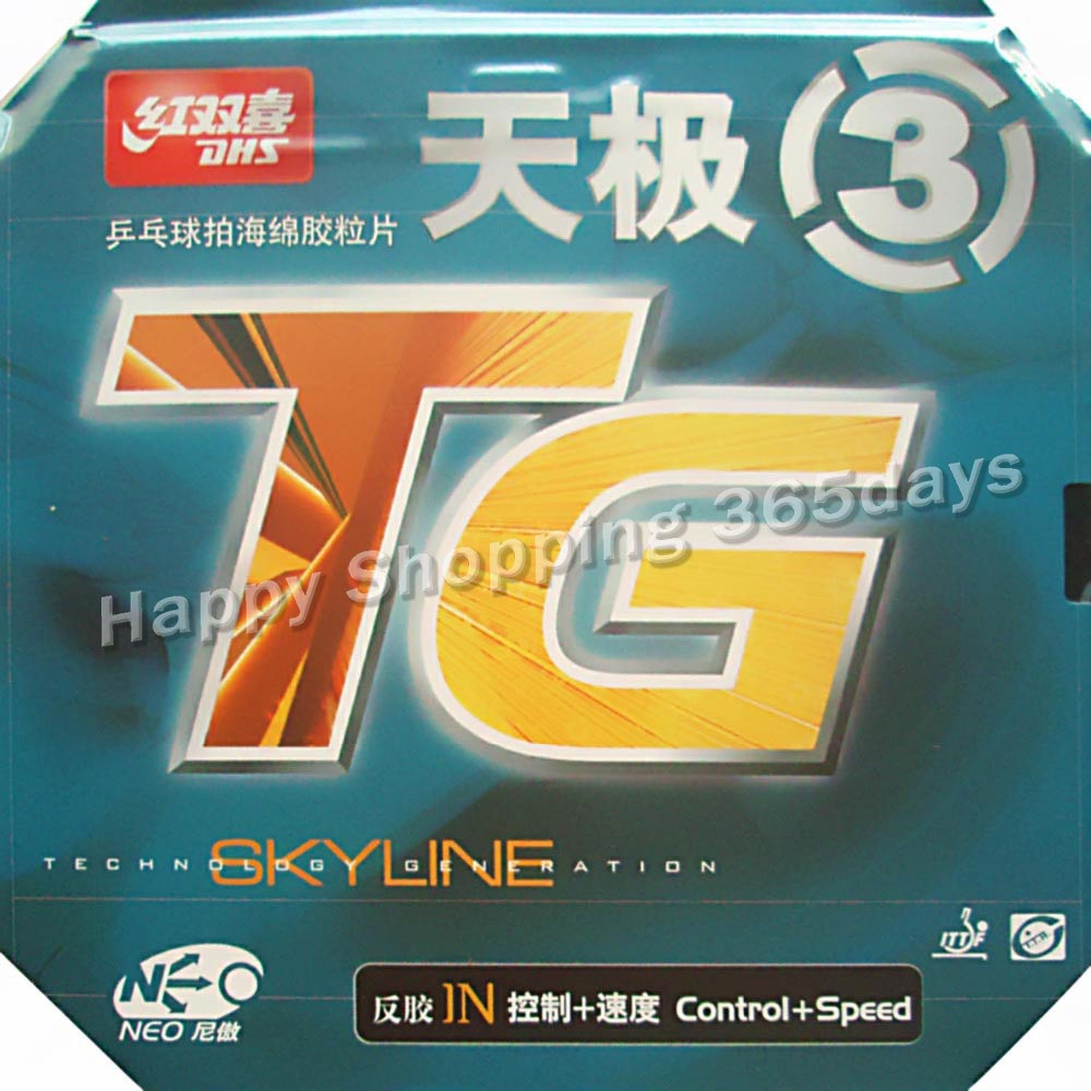 DHS NEO Skyline TG TG3 TG-3 3 pips-no tênis de mesa de borracha pingpong com orange esponja 2.15-2.2mm