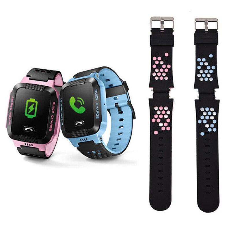 Remplacer Montre Smart Watch Bracelet pour Q750 Q100 Q60 Q80 Q90 Q528 T7 S4 Enfants GPS Tracker Bracelet Silicone Courroie De Poignet avec Connexion
