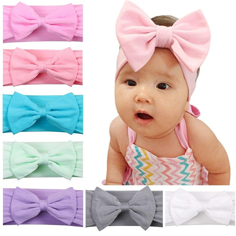 Baby Girls Head Wrap Headbands Fabric Nylon Hairband Messy