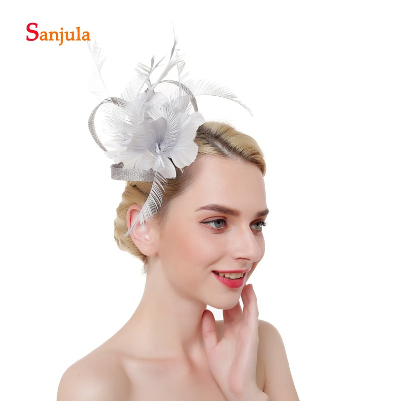 Samll Feathers Hat Women Fascinators Wedding Hats for Bridal Ladies Party Hats Hair Accessories acconciature sposa H173
