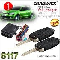 Flip schlüssel taste für Deutsch auto #31 Polo Bora Keyless Entry System auto remote Zentrale Türschloss sperren CHADWICK 8117 zubehör