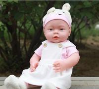 Darmowa Dostawa! 41 CM symulacja baby odrodzenia dolls miękkie Ruanjiao/wanienka piękne dzieci wczesna edukacja zabawki manekin B268