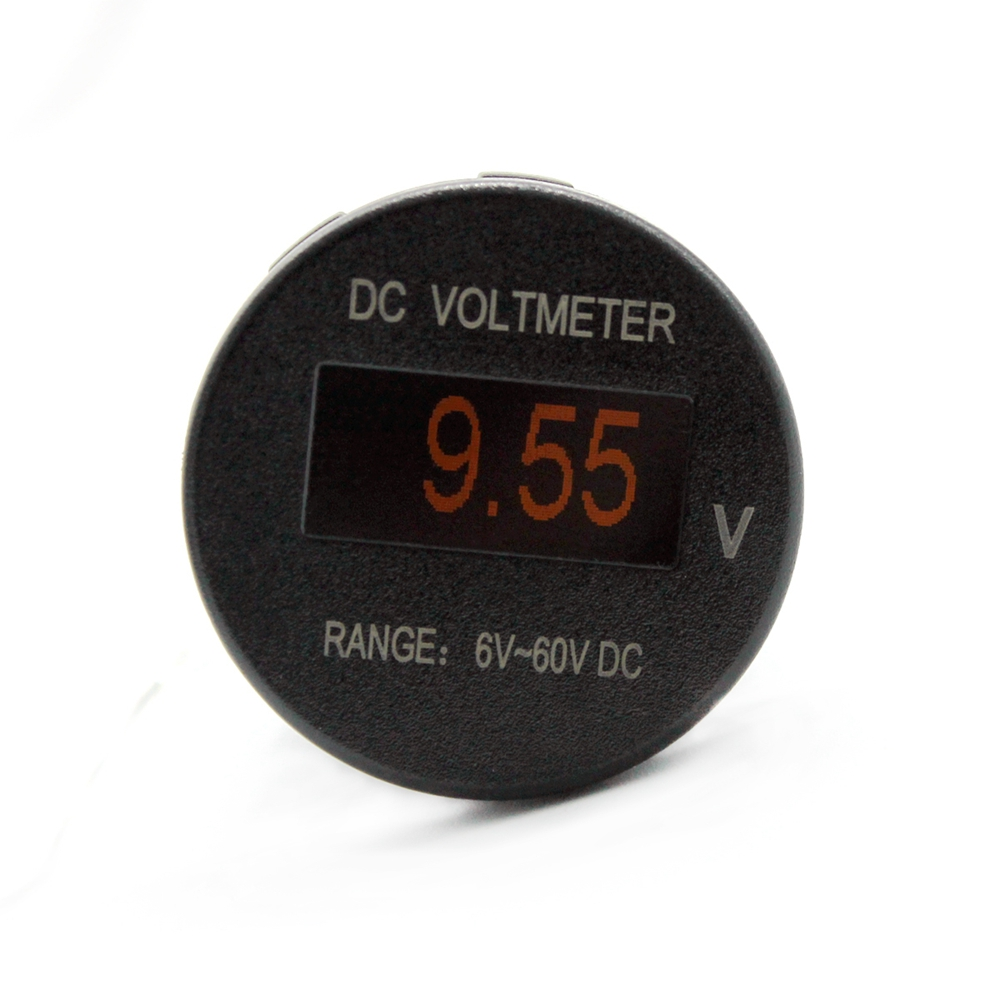 Mini Oled Dc Voltmeter For Car Motorcycle Rv Atv Marine Boat Truck Automotive Voltage Indicator 24v Trailer Rear Light Waterproof Camper Reverse Van Taillight 19 Led Ultra