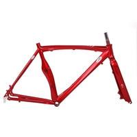 disc brake road bike frame 700C road frame Multicolor Aluminum alloy Fixie 53cm Frame Fixed Gear bike fram aluminum frame fork