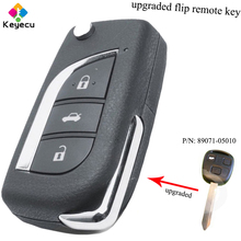 KEYECU Модернизированный флип-пульт дистанционного ключа-3B 434 МГц ID4D66 чип toy47-fob для Toyota Yaris Avensis Corolla Carina и т. д. P/N: 89071-05010
