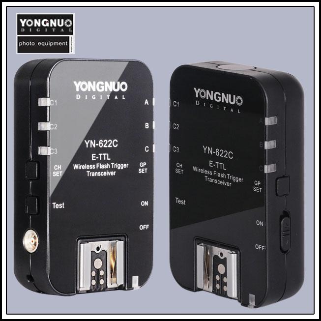 Prix pour Yongnuo YN-622C YN 622 Sans Fil TTL HSS 1/8000 S Déclencheur Flash 2 émetteurs-récepteurs pour Canon 1100D 1000D 650D 600D 550D 7D 5DII 40D