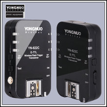 Y ongnuo YN-622C YN 622ไร้สายETTLไฮสปีด1/8000วินาทีแฟลชทริกเกอร์2ตัวรับส่งสัญญาณสำหรับCanon 1100D 1000D 650D 600D 550D 40D 7D 5DII