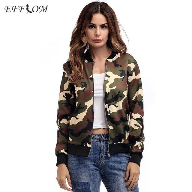 5d095a8311271 Spring New Female Coat Plus Size Camouflage Bomber Jacket Women Outerwear  Army Basic Jackets Vadim Streetwear Jaquetas Feminina