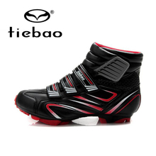 Tiebao Witer Cycling Shoes Men MTB Bike Racing Shoes Windproof Athletic Botas Self-Locking Bicycle Shoes Ankle Boots