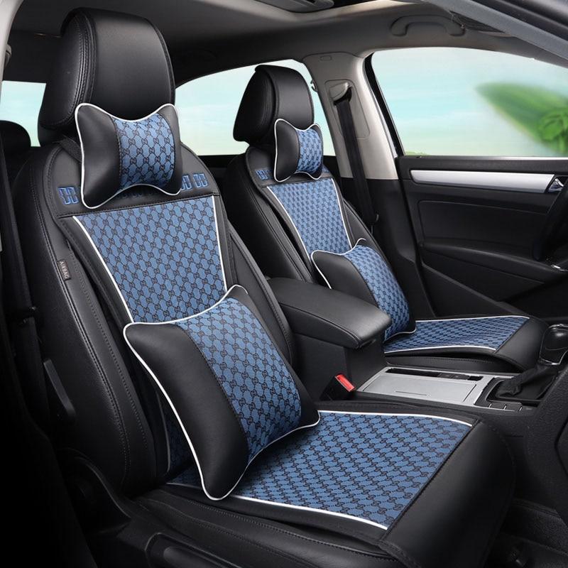 GEEAOK en cuir Siège De Voiture Universel couvre pour Opel tous les modèles Astra g h Antara Vectra zafira a b De Voiture accessoires style