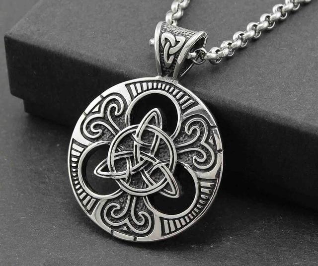 Triquetra trinity knot pendant necklace silve tone men unisex triquetra trinity knot pendant necklace silve tone men unisex jewelry t1 aloadofball Choice Image
