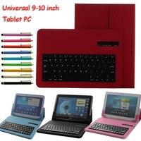 Universal teclado bluetooth removível pu case capa para hp slate 10 hd para lenovo miix2 10 para samsung galaxy tab 4 sm-535 10.1