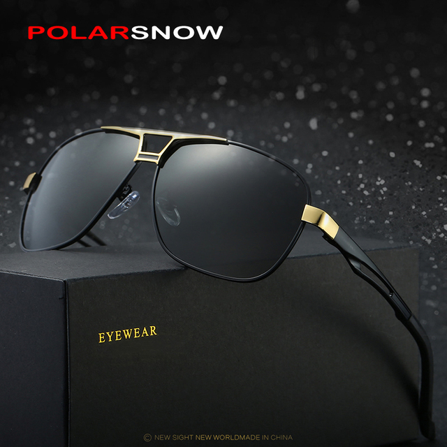 POLARSNOW 2017 Sunglasses Men Alloy Frame Polarized Driving Sun Glasses Male Vintage Oculos De Sol Brand Designer Eyewear