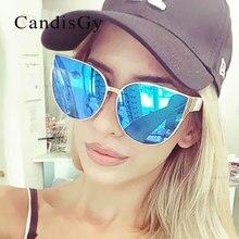 Кошачий глаз известный бренд дизайнер хип хоп Модные солнцезащитные очки мужские и женские зеркальные крутые Солнцезащитные очки женские Трендовое покрытие