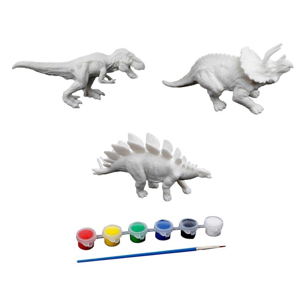 US $0 91 OFF DIY Mewarnai Lukisan Hewan Dinosaurus Model Gambar Grafiti Anak Anak Anak Anak Belajar Seni Pendidikan Menggambar Mainan