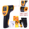 -50 ~ 380 Degree Handheld Non-Contact IR Infrared Digital Temperature Pyrometer Thermometer Laser Point Gun Auto Power Off