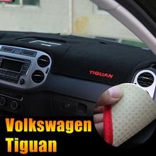 Приборной панели автомобиля Избегайте свет Pad инструмент крышка платформы стол коврики ковры LHD для Volkswagen VW Tiguan 2009-2014 Интимные аксессуары