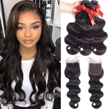 Brazilian Hair Weave Bundles 3 Bundler Med Lukke Brasilian Body Wave With Closure Remy Human Hair Bundles With Closure