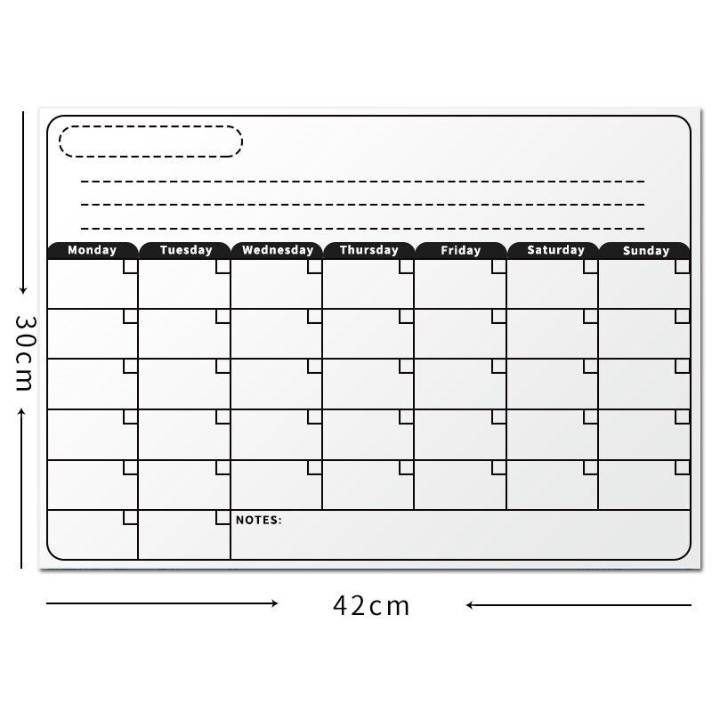 Lavagna magnetica a3 mensile calendario secco cancellare lavagna magnetica bianco tavolo da - Lavagna magnetica da cucina ...