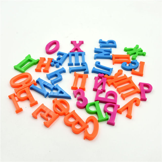 35cm russian alphabet magnetic letters block baby kids educational toy fridge magnet sticker learning magnets