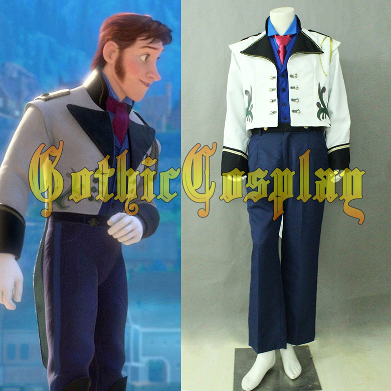 Prince Hans costume Hans Cosplay costume  Halloween costumes for men party