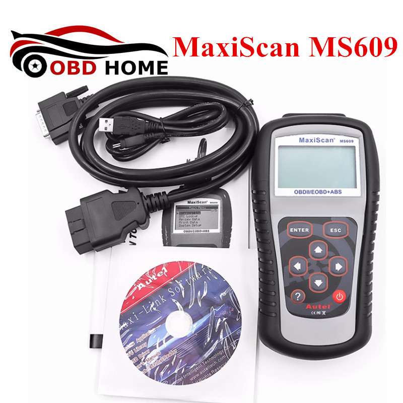 Цена за MaxiScan MS609 OBDII/EOBD Сканер Инструмент Диагноз Для кодекс ABS Код MS 609 Поддержка мультибрендовый автомобиль