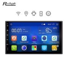 7 Дюймов Android 5.1.1 Автомобильный Радиоприемник 2 Din Dvd-плеер Автомобиля gps-навигация wi-fi 1024*600 автомобиль мультимедиа плеер для honda ford peugeot