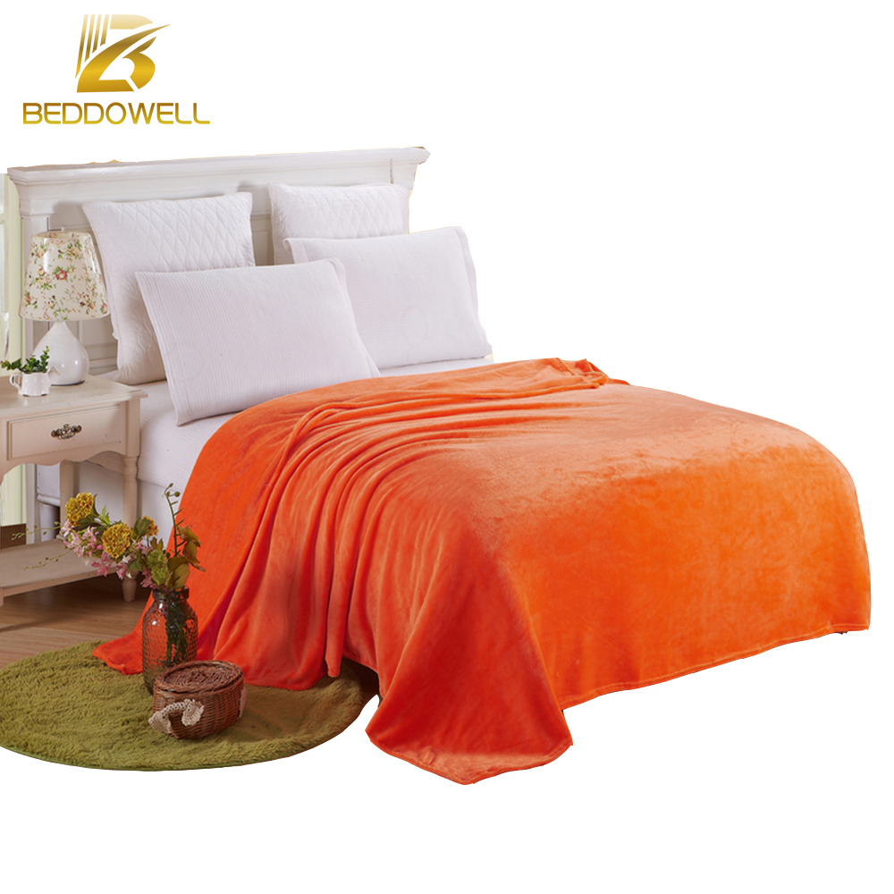 online get cheap orange fleece blanket aliexpresscom  alibaba group - luxury quality flannel blanket coral fleece bedspread solid orange coloradult queen king size winter bed