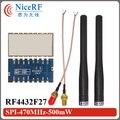 10 шт./лот-122 дбм Чувствительность и 500 МВт SPI интерфейс RF4432F27 470 МГц ФСК Модуль Приемопередатчика с Резиновая Антенна