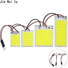 Высокое качество COB светодиодный панельный светильник супер белый автомобильный светильник для чтения карты Авто купольная интерьерная лампа с адаптером T10 Festoon Base 12 В DC