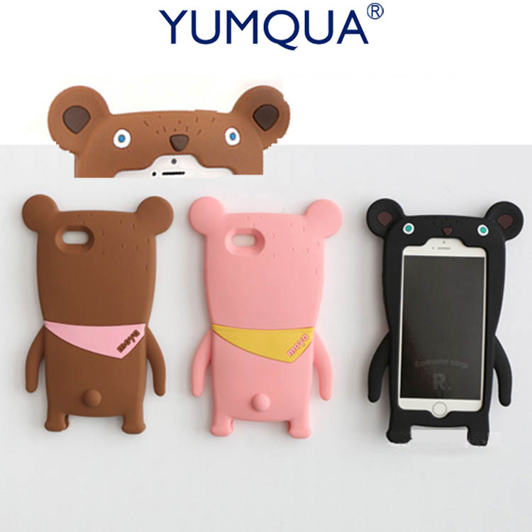 Cartoon Capa Case For iPhone7 7plus 8plus Bear 3D Soft Silicone Cover Fundas Teddy Bear for apple iphone 6 6s 6plus Back Shell