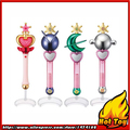 Original Bandai Sailor Moon Crystal 20th Anniversary Gashapon Sailor Moon Wand Charm Part .3 Henshin Rod & Stick Set