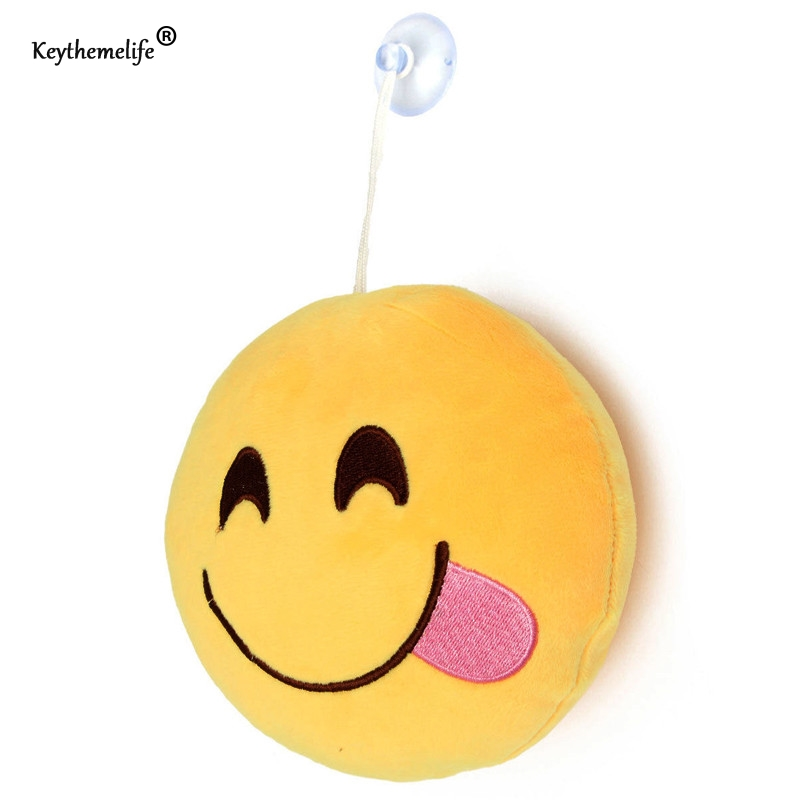 Keythemelife Cute Creative Smile Emoji pillow 10x10cm Cushion Cartoon Facial QQ Expression Home Decor Sofa Bed Throw Pillow DA