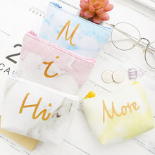 50PCS / LOT Coin Purse Portable Women Mini Printing Zero Wallet Girl Cute Zipper Simple Small Fresh Bags