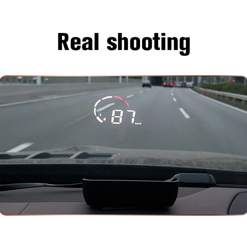 Image 5 - GEYIREN 2019 Newest M10 HUD display With Lens Hood yellow led Windshield Projector head up display OBD Scanner Speed Fuel Warnin-in Head-up Display from Automobiles & Motorcycles