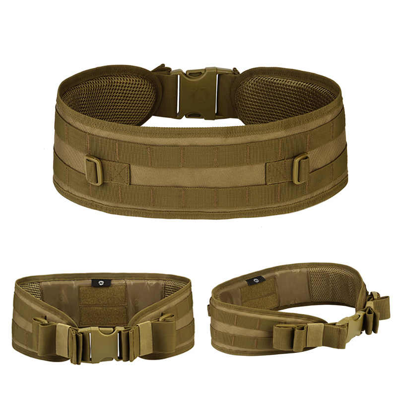 Tactical Molle Wide Waist Belt with Shoulder Combat Multifunction Hunting Straps