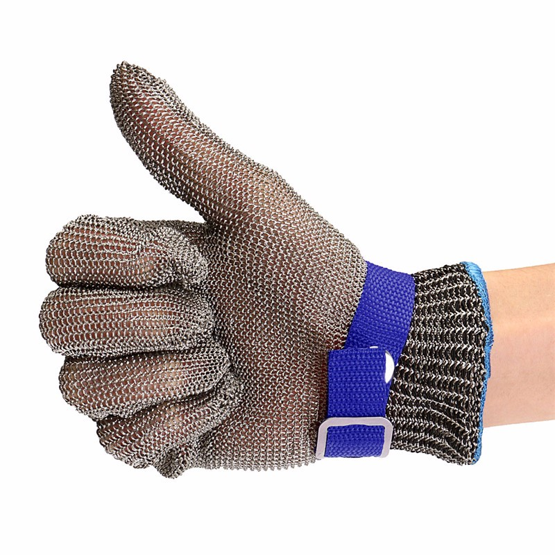 New Safety Cut Gloves Stab-resistant Stainless Steel Wire Mesh Gloves Cotton Gloves Combo High Performance 5 Level Protection